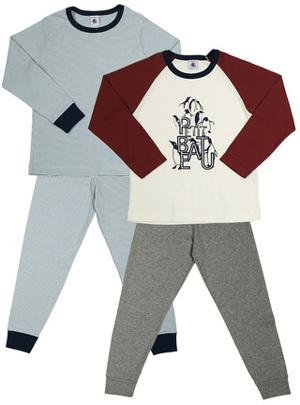 Schlafanzug PINGUINE 2er-Pack lang bunt