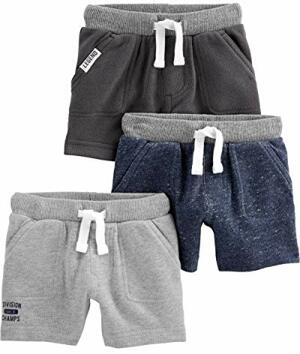 Joys Carter Kleinkind 3er-Pack Strick Shorts Charcoal