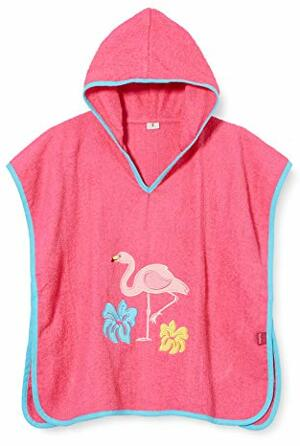 Poncho Flamingo Bademantel