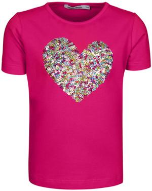 T-Shirt PAILLETTEN-HERZ