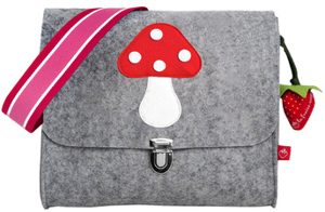 Filz-Kindergartentasche PILZ x7cm Personalisierbar Melange