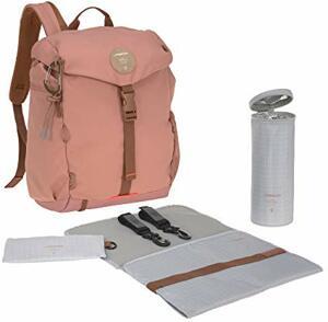 Wickelrucksack mit Wickelunterlage Kinderwagenbefestigung Flaschenwärmer Wasserabweisend Nachhaltig Produziert Outdoor Backpack rust
