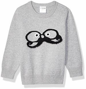 Zebra Crew Pullover-Sweaters Mustachio Medium