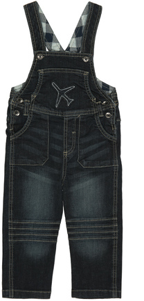 Jeans-Latzhose AIRPLANE dark Denim
