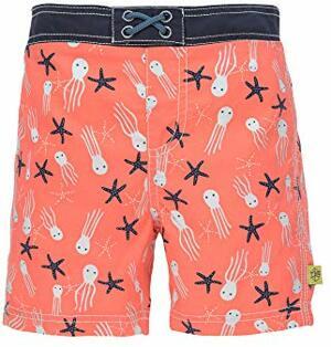 Badeshorts Schwimmshort Badehose Integrierte Schwimmwindel Schwimmbekleidung Waschbar UV-Schutz Splash Fun Board boy Jelly Fish