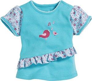 Vögelchen T-Shirt Türkis