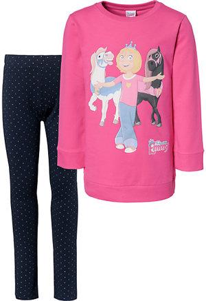 Prinzessin Emmy ihre Pferde Set Sweatshirt Leggings mit Glitzerpunkten