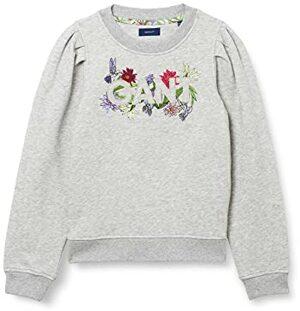 Flower Logo C-Neck Sweatshirt Light Melange