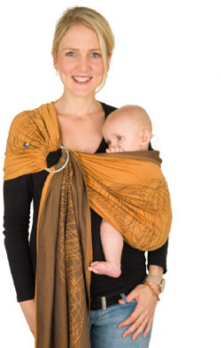 Ring-Sling Jacquard New York Mocca Orange