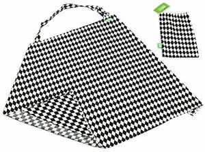 Stilltuch Stillschal Diskretes Praktischer Sicht- Lärmschutz aus Weicher Atmungsaktiver Farbe Diamonds