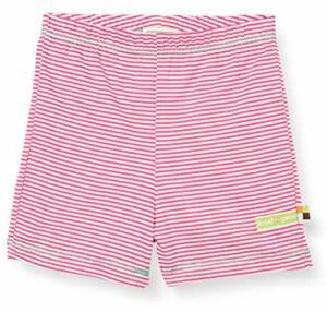 Proud Striped Organic Cotton Shorts Azalea