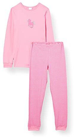 Langer Schlafanzug Einhorn Leoprint Organic Cotton