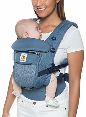 Babytrage Neugeborene bis Kleinkind Oxford Cool Air Adapt 3-Positionen Ergonomische Tragetasche Kindertrage