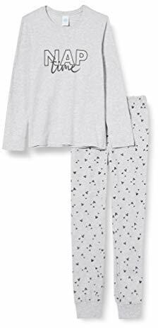 Schlafanzug Melange NAP TIME Dieser Bequeme Pyjama Punktet mit Schönen Details Komfort
