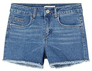 High Waist Jeans Shorts Medium Denim