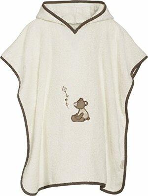 Badeponcho Bär mit Kapuze Bademantel Beige One size