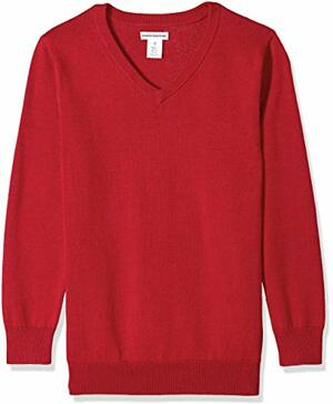 Essentials Boys Uniform V-Neck Pullover-sweaters Scooter
