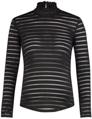 Langarmshirt Striped Mesh
