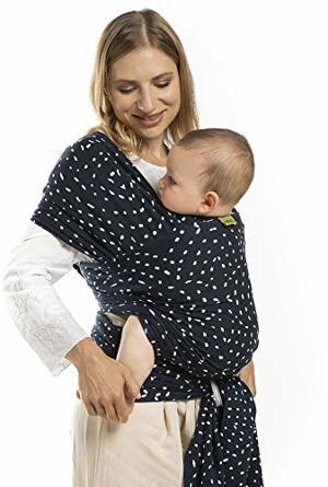 Wrap Seville das Elastische Tragetuch aus Weichem Sommersweat sehr Einfach Binden Ideal Neugeborene Kleinkinder