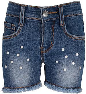 Jeansshorts mit Fransen Kleinkinder
