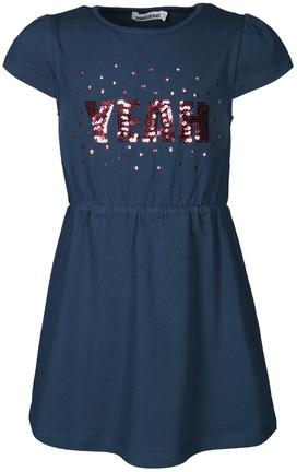 Jersey-Kleid YEAH mit Pailletten