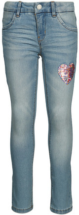 Jeans-Hose NKFSALLI DNMTONJA Slim-Fit mit Wende-Pailletten Light Denim