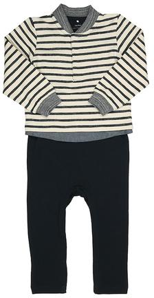 Sweatshirt-Strampler NBMFEGE ohne Fuß Creme