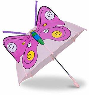 Kinderregenschirm Schmetterling Kleiner Leichter Stockschirm Glockenform