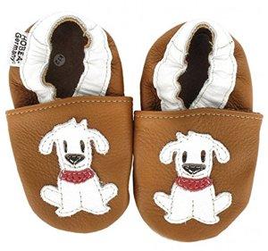 Krabbelschuhe Babyschuhe mit Tieren Schuhgröße Modell Hund Fiffi