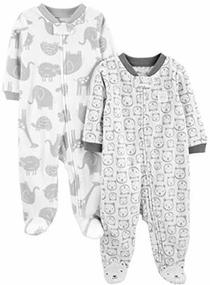 Joys Carter 2-Pack Fleece Footed Play Infant-and-toddler-sleepers Tiere Bären Premature