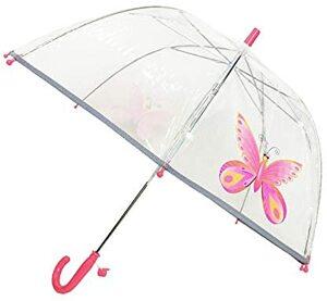 Kinderregenschirme Transparenter Stockschirm Glockenform Erste Fluoreszierende die Sicherheit Ihres Schmetterling
