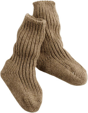 Kamelhaar-Socke Naturfarben