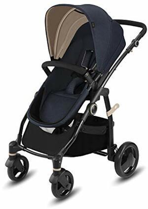 Kombikinderwagen Leotie Pure mit Wendbarem Komfortsitz Faltbarem Kinderwagenaufsatz Neugeborene Regenverdeck Geburt Jeansy