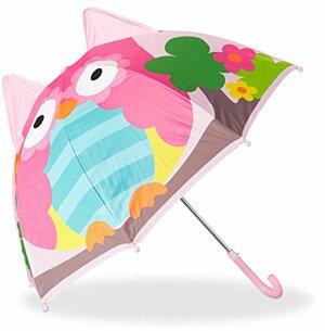 Kinderregenschirm mit Eule Kleiner Stockschirm