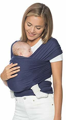 Babytragetuch Neugeborene Geburt bis Indigo Elastisch Atmungsaktiv Sling aus Viskose