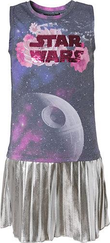 Star Wars Kleid mit Wendepailletten Rockteil Metallic-Optik Mehrfarbig Kleinkinder