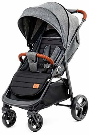 Kinderkraft Kinderwagen Grande Liegebuggy Sportwagen Großer Bequemer Schlaffunktion Bude Reißverschluss Vergrößern