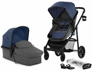 Kinderkraft Kombikinderwagen JULI 2in Kinderwagenset Buggy Sportwagen Tragewanne Zubehör Sitzpositionen Einkaufskorb 5-Punkt-Sicherheitsgurt
