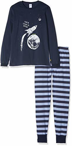 Pyjama Long Zweiteiliger Schlafanzug Classic