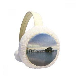 Winter Earmuffs Ohrenwärmer 5Cm Durchmesser 8Cm Dicke Helle Cremefarbe