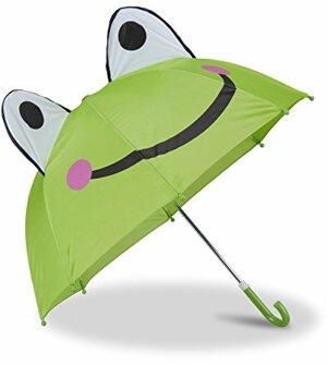Kinderregenschirm mit Frosch Kleiner Stockschirm