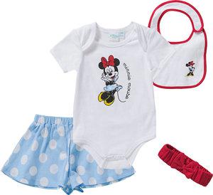Disney Minnie Mouse Set Body Latz Mütze Shorts