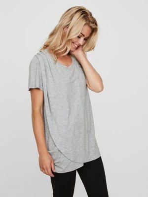 Jersey Still-Bluse mit Kurzen Ärmeln