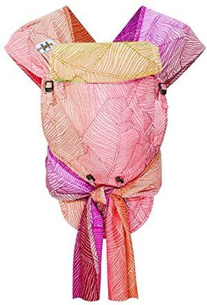 Hop-tye Babytrage Halfbuckle Mei Tai Bauchtrage Rückentrage Design Quito Pastell Einheitsgröße Hüftumfang bis