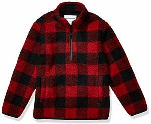 Essentials Quarter-Zip High-Pile Polar Fleece Outerwear-jackets Exploded Buffalo Check Medium