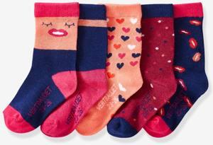 5er-Pack Socken Fuchsia von