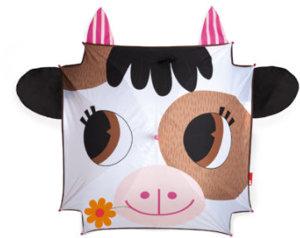 Regenschirm Kuh bunt