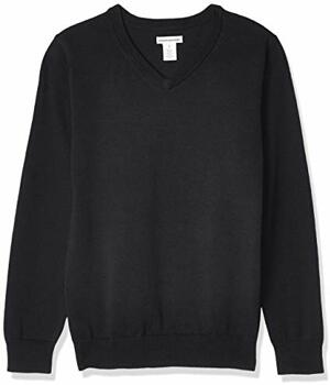 Essentials Boys Uniform V-Neck Pullover-sweaters Beauty
