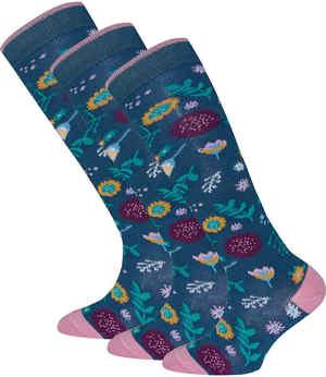 Kniestrümpfe Blumen Socken Strumpfhosen