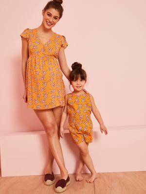 Jumpsuit Schwangerschaft Batik-Look von